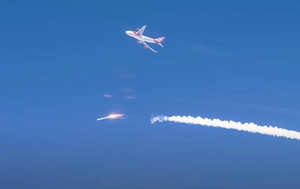 Неудачный старт ракеты с самолета попал на видео