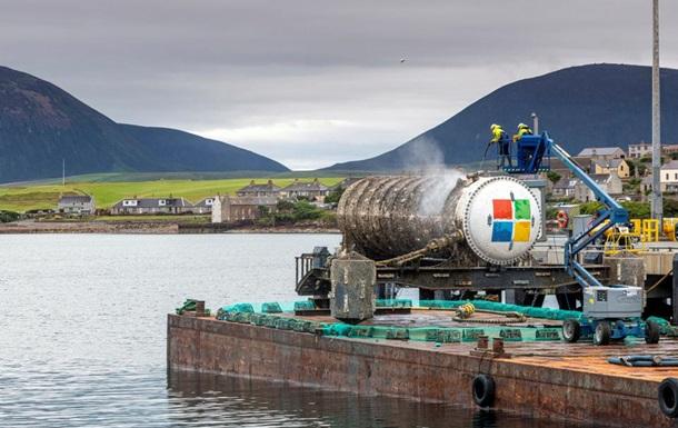 Серверы Microsoft будут храниться под водой